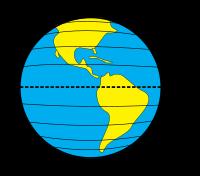 Latitude sur la planète Terre